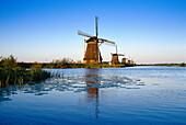 Windmills in a row, Kinderdijk, Netherlands