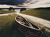 Henning Mankell, Faceless Killers, old fishing boat near fisher hut, Havang, Sweden