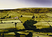 E. George, A Great Deliverance, Landscape and farmland in the Yorkshire Dales, Yorkshire, England, Great Britain