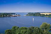 View over lake Mueritz, Mecklenburg Lake District, Mecklenburgische Seenplatte, Mecklenburg-Vorpommern, Germany