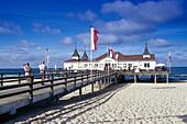 Seaside Resort and beach at Ahlbeck, Usedom, Mecklenburg- Vorpommern, Germany