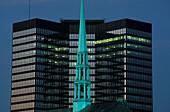 Steeple and City Hall, Essen, North Rine-Westphalia, Germany