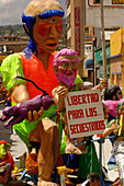 Freedom for the kidnapped, Carnaval de Negros y Blancos, Pasto, Colombia, South America
