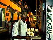 Street Vendor in Cartagena, Getsemani, Cartagena de Indias, Colombia, South America
