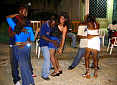 Dancing in front of the House, Cartagena de Indias, Colombia, South America