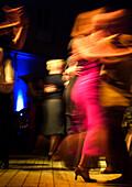 Tango Praterinsel, Couples dancing Tango, Munich, Bavaria, Germany