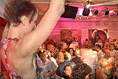 People dancing in 8 seasons Club, Nightlife, Munich, Bavaria, Germany