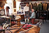 Kiltmaker Ian Chisholms, Inverness, Schottland Grossbritannien fr