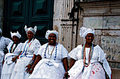 Women wearing traditional clothing, Salvador de Bahia, Brazil