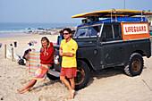 Gelaendetour mit Jeep, Newquay, Cornwall, England Grossbritannien
