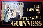 Close up of a sign at a pub, Ireland, Europe