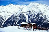 Gampe Alp, Winter mountain landscape, Soelden, Oetztal, Tyrol, Austria
