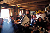 Traditional music, Gampe Alp, Soelden, Oetztal Tyrol, Austria
