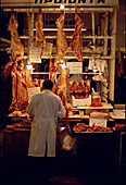 Meat section, Central Market, Plaka Athens, Greece