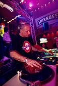DJ in Danza Nightclub, Psirri Athens, Greece