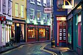 Narrow alley with shops, Kinsale, Co. Cork, Ireland