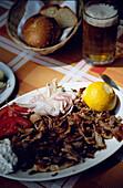 Gyros Dish, Athens, Greece