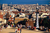 Parc Guell Barcelona, Galleries Park Guell, Barcelona, Catalonia, Spain
