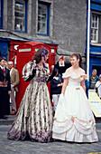 Actors on the street at Fringe Drama & Theatre Festival, Royal Mile, Edinburgh, Scotland, Great Britain, Europe