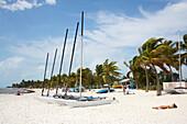 Sailing boats for rent, Higgs Beach, Key West, Florida  Keys, Florida, USA
