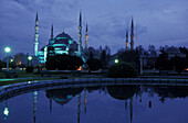 Blue Mosque in the evening, Istanbul, Turkey