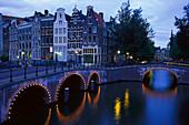 Prinsengracht, Leidsegracht Amsterdam, Niederlande