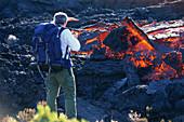 Lava, Piton Kapor im Enclos foque, Insel La Réunion Indischer Ozean, Frankreich