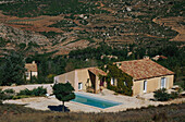 Holiday home with pool in the sunlight, Montagne Ste. Victoire, Le Bouquet, Bouches-du-Rhone, Provence, France, Europe