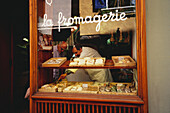 View at cheese shop, Abt, Vaucluse, Provence, France, Europe
