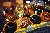 Olives at the market, Aix-en-Provence, Bouches-du-Rhone, Provence, France, Europe