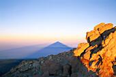 Shadow of Teide top, Parque Nacional del Teide, Tenerife, Canary Islands, Spain