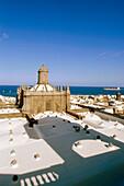 Stadtübersicht vom Dach der Kathedrale Santa Ana, Vegueta, historisches Stadt-Zentrum, Las Palmas de Gran Canaria, Gran Canaria, Kanarische Inseln, Atlantik, Spanien