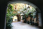 Inner courtyard, patio in Palma, Majorca, Spain