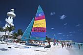 Strand, Playa del Carmen, Quintana Roo Halbinsel Yucatán, Mexico