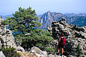 Hiking trail, GR 20, Bavella Pass, Corsica, France