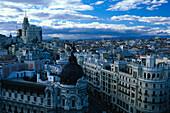 Gran Via, Edificio Metropolis, Madrid, Spain