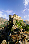 Citadel at the top of a mountain, Corte, Corsica, France