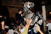 Dance of the horses, Festival of St. John, Ciutadella, Menorca, Minorca, Balearic Islands, Spain