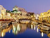 Town hall, former Arab Palace and harbour, Ciutadella, Menorca, Minorca, Balearic Islands, Mediterranean See, Spain