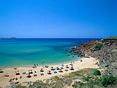 Beach at Platja de Cavalleria, near Fornells, Minorca, Spain