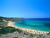 Beach life, Platja de Cavalleria, Minorca, Spain