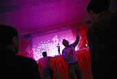 Striptease Show, Discothek, 6 Days Race Munich, Germany
