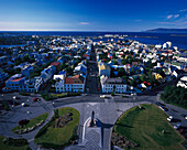 Panorama von Reykjavik, Island