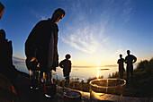Midnight Sun Party, Engeloeya, Steigen, Nordland County, Norway