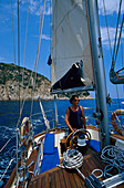 Sailing Trip along the coast, Costa Brava, Prov. Girona, Catalonia, Spain