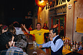 Pub in the old town, Nightlife, Placa Major, Palma de Mallorca, Mallorca, Spain