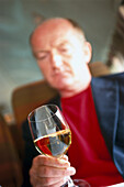 Man with Wineglass, Food
