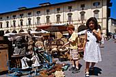 Antiquities market, Piazza Grande, Arezzo, Tuscany, Italy