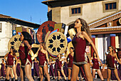Vine festival, Dancing Show, Impruneta, Chianti, Tuscany, Italy