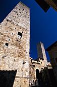 Türme der mittelalterliche Stadt San Gimignano, Toscana, Italien